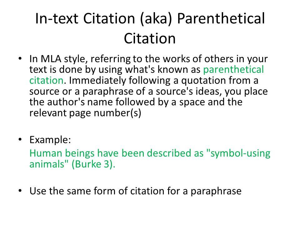 cite essays mla style