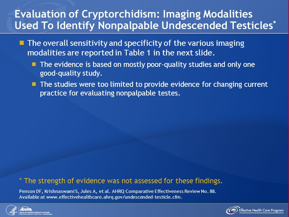  The overall sensitivity and specificity of the various imaging modalities are reported in Table 1 in the next slide.