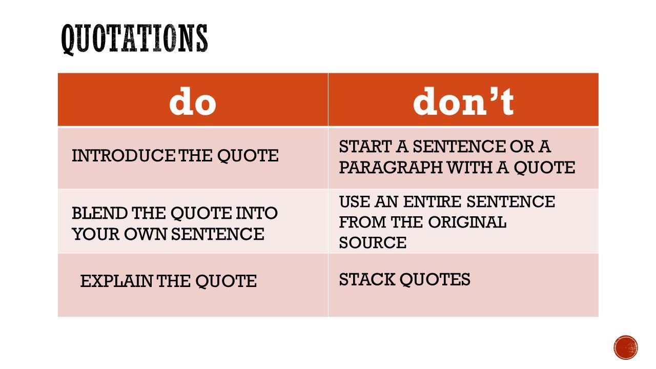 Quotes Quiz 1Finish Up Activity Integrating Quotes  Notes 3Sat Quiz 4