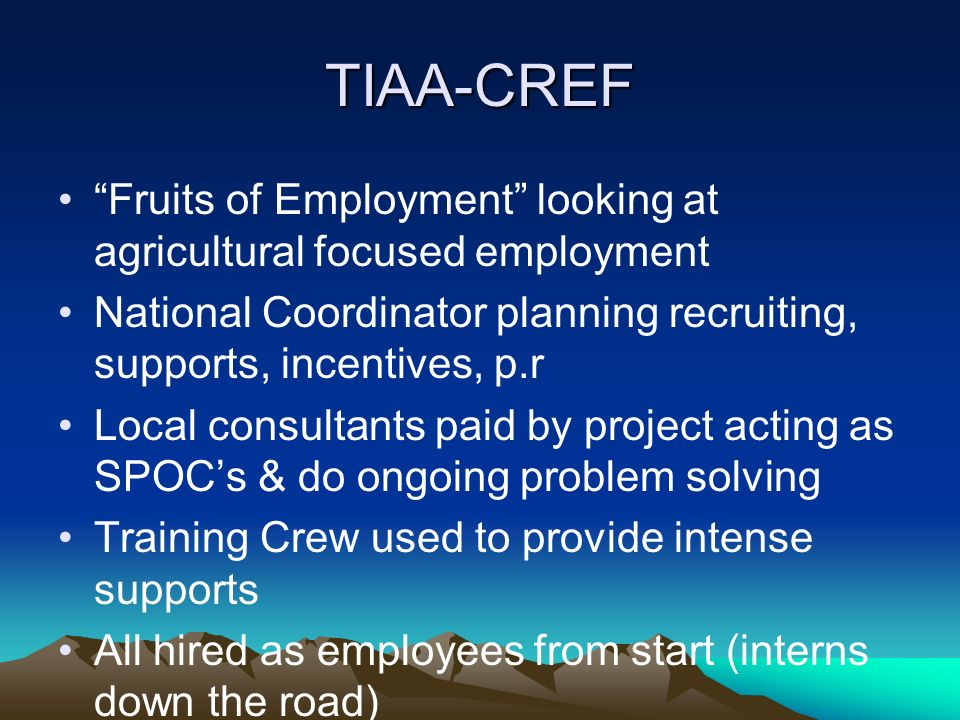 tiaa cref internship
