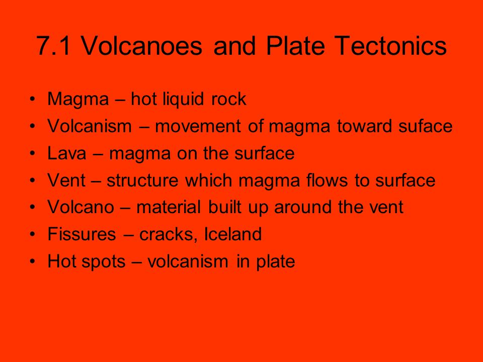 Volcanoes 71 Volcanoes and Plate Tectonics Magma hot liquid – Volcanoes and Plate Tectonics Worksheet Answers