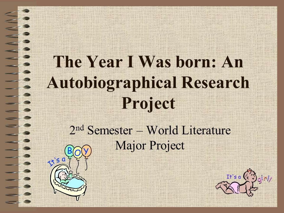 The Year I Was born: An Autobiographical Research Project 2 nd Semester – World Literature Major Project