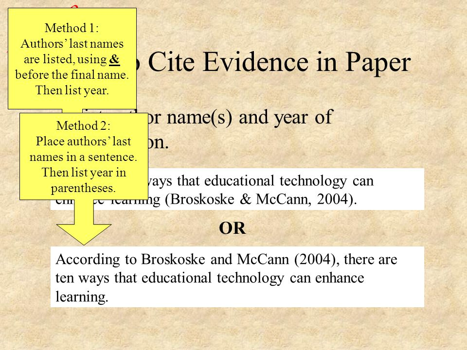 Citations In Research Paper