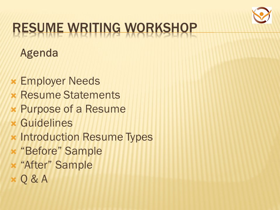 agenda employer needs resume statements purpose of a - Resume Guidelines