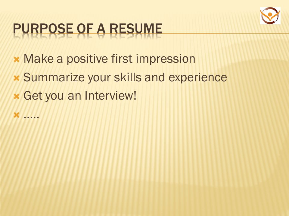 agenda employer needs resume statements purpose of a