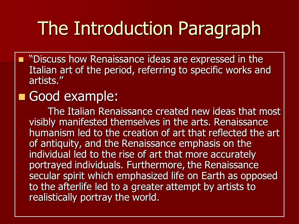 Can anyone write a 3 paragraph essay of an artist during the Renaissance?