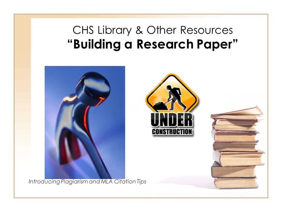 resources on a research paper