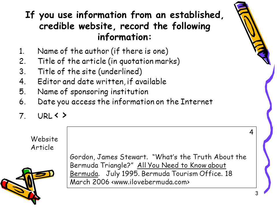 Mla bibliography information card