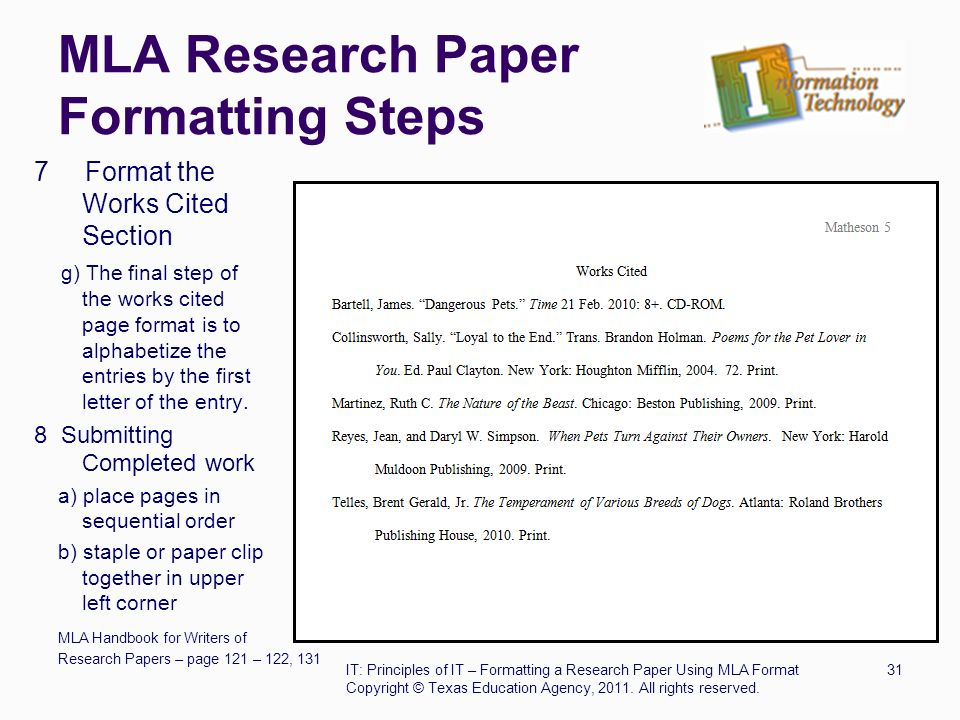write a mla research paper