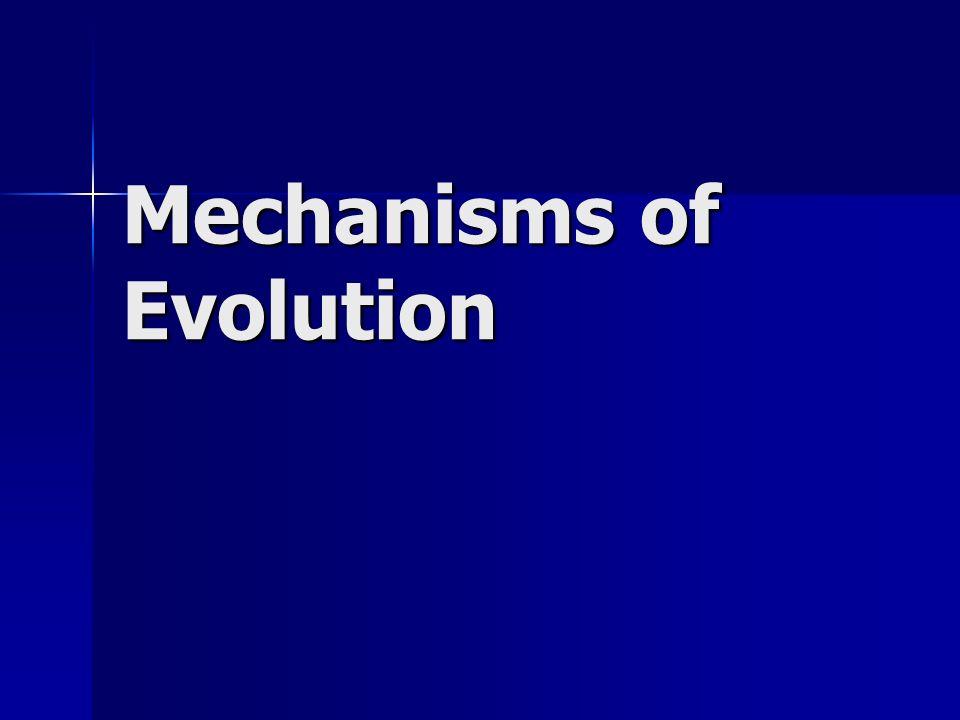 Mechanisms of Evolution