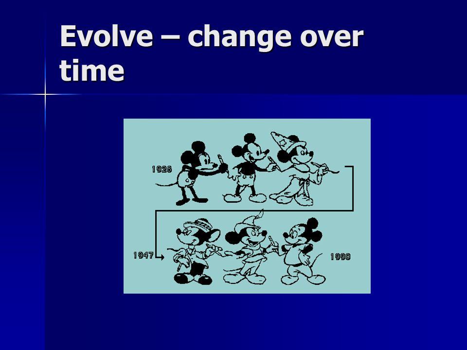 Evolve – change over time