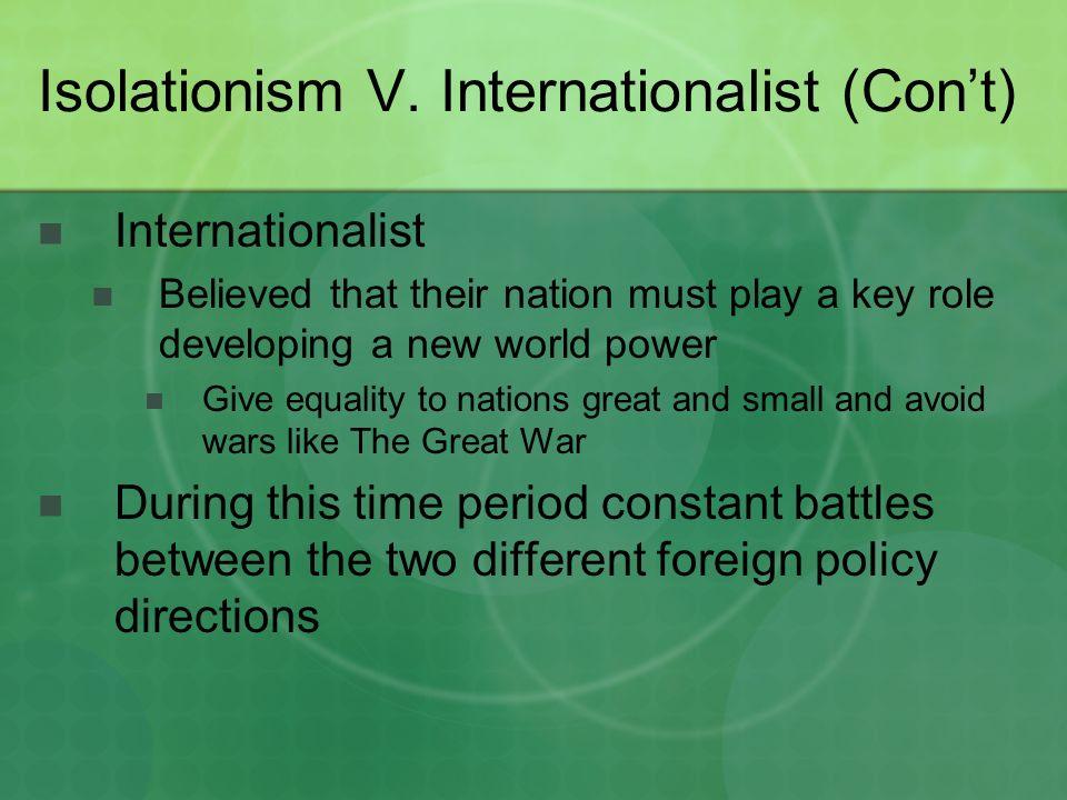 Isolationism V.