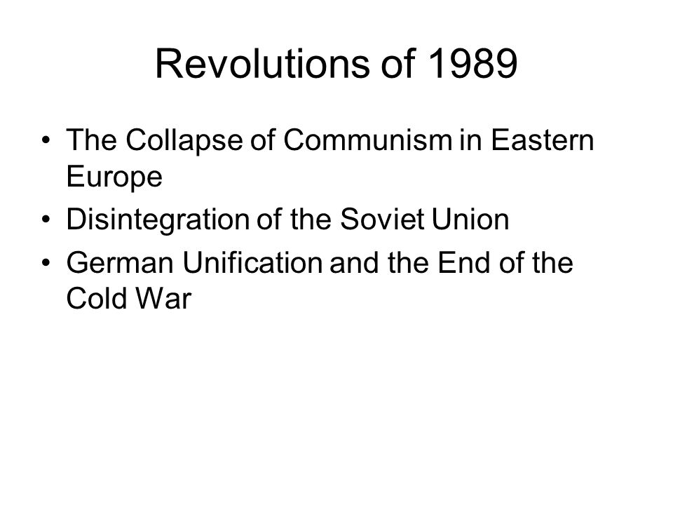 collapse of communism in east europe The causes of the collapse of communism in eastern europe were that it had no popular support, political downfall, and economic problems.