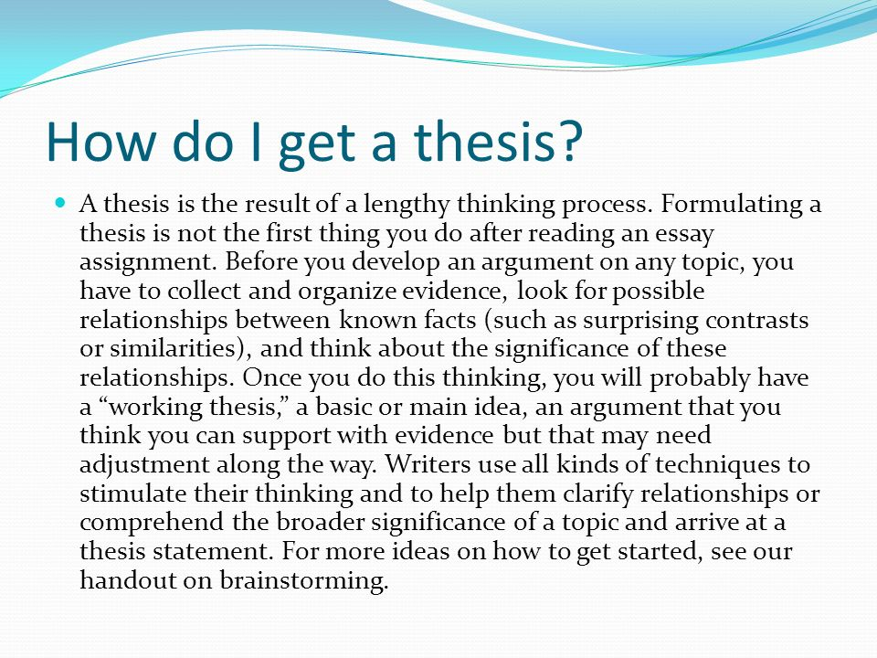 Thesis Subject