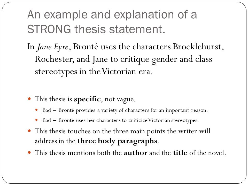 3 parts of thesis statement