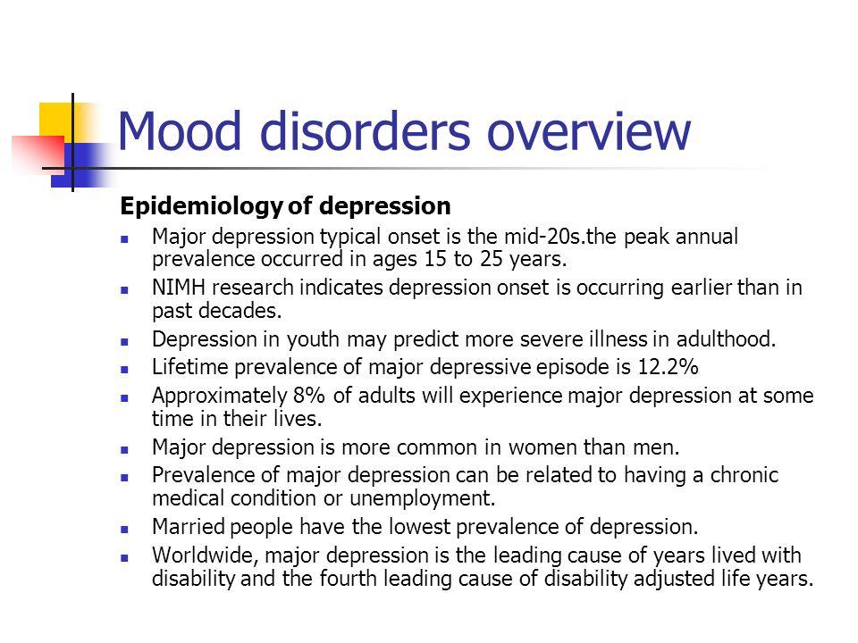epidemiology of depression