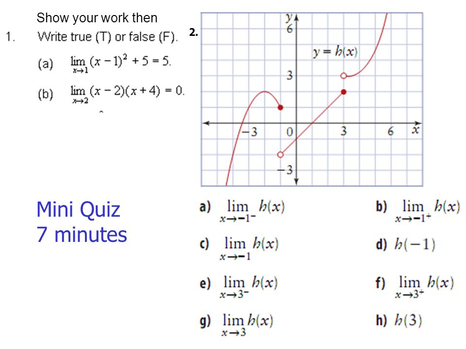 Definition and finding the limit When substitution results in a 0 – Evaluating Limits Worksheet