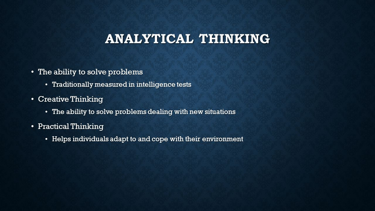 sternberg s theory of intelligence psychological testing unit 3 analytical