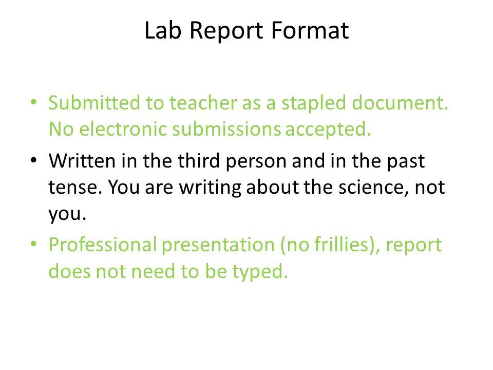 Scientific data     Formal Lab Report Template   Formal Lab Report     Write up report