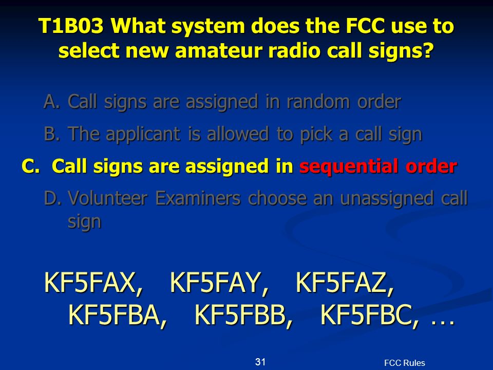 Fcc amateur radio call signs