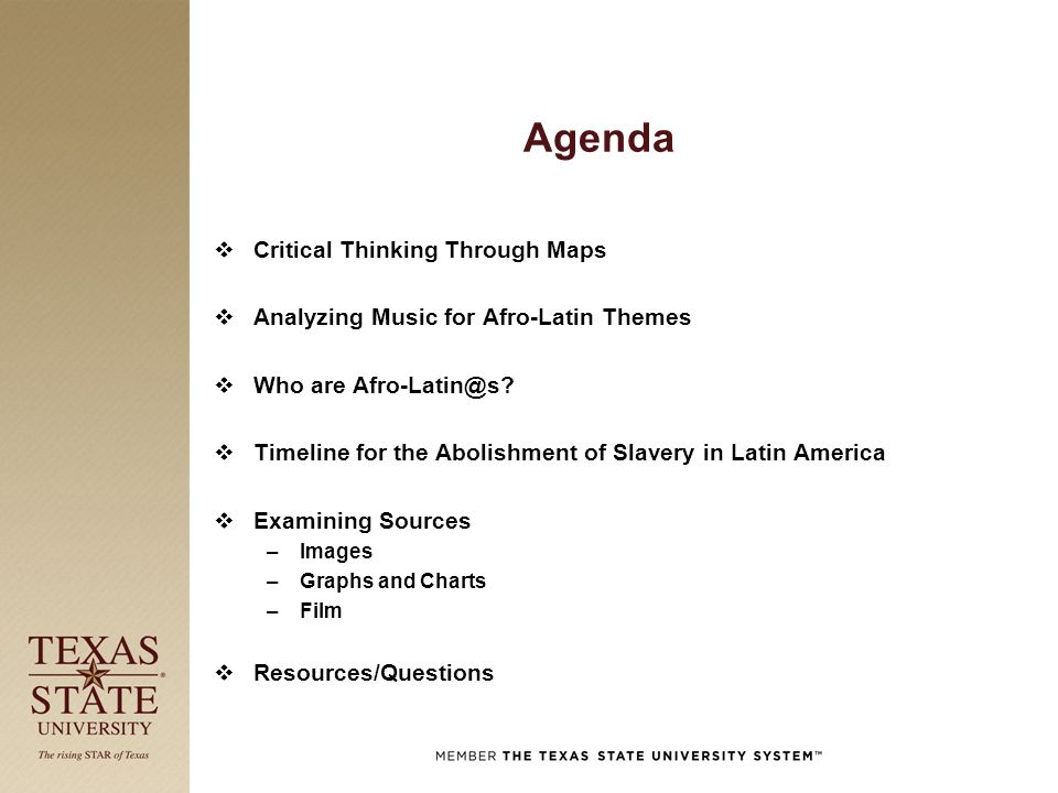 texas education critical thinking