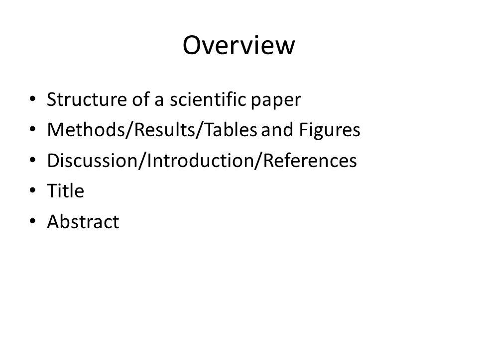 Introduction scientific paper