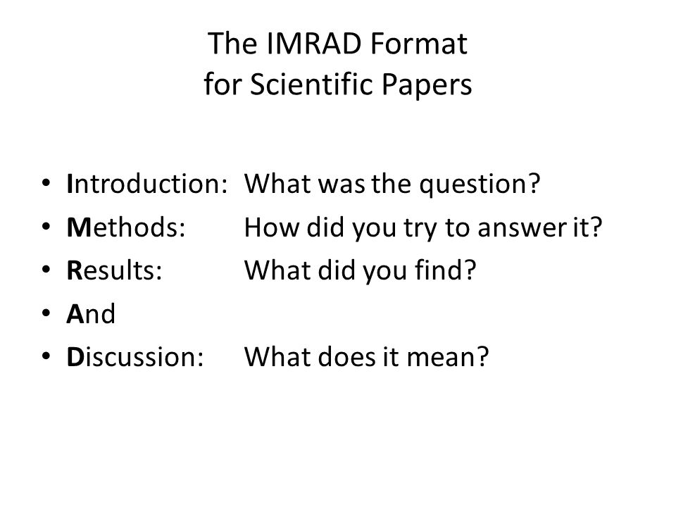 How to write a scientific method paper