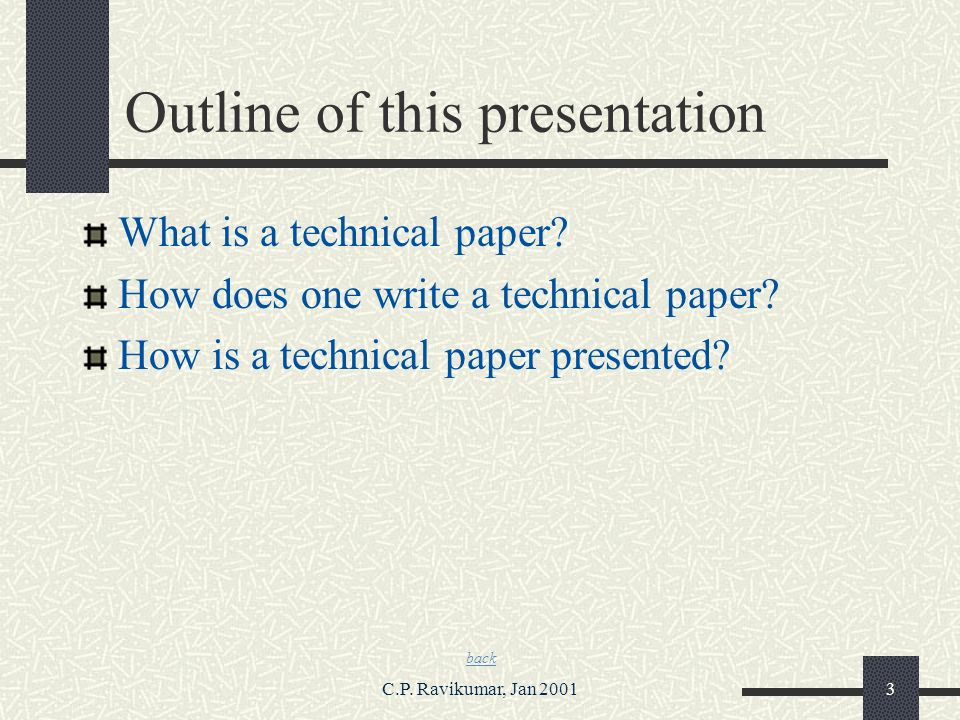 how to write technical paper Getting an 'a' on your next technical writing assignment is a mere technicality once you have seen these superb examples it might also help if you actually know how to write.