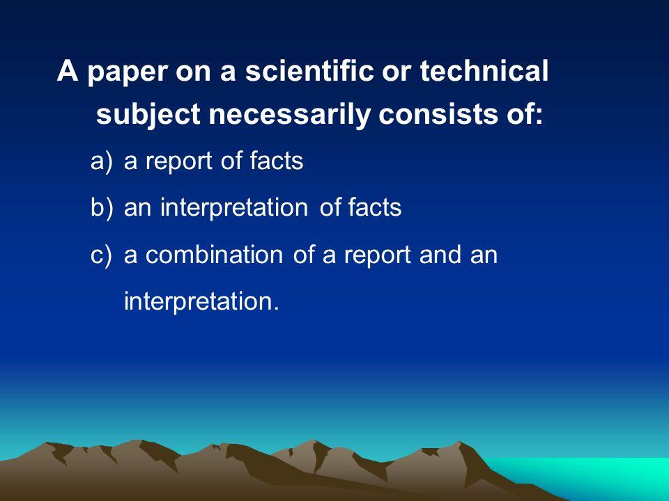 Help writing scientific paper