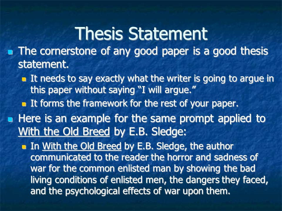 thesis satements
