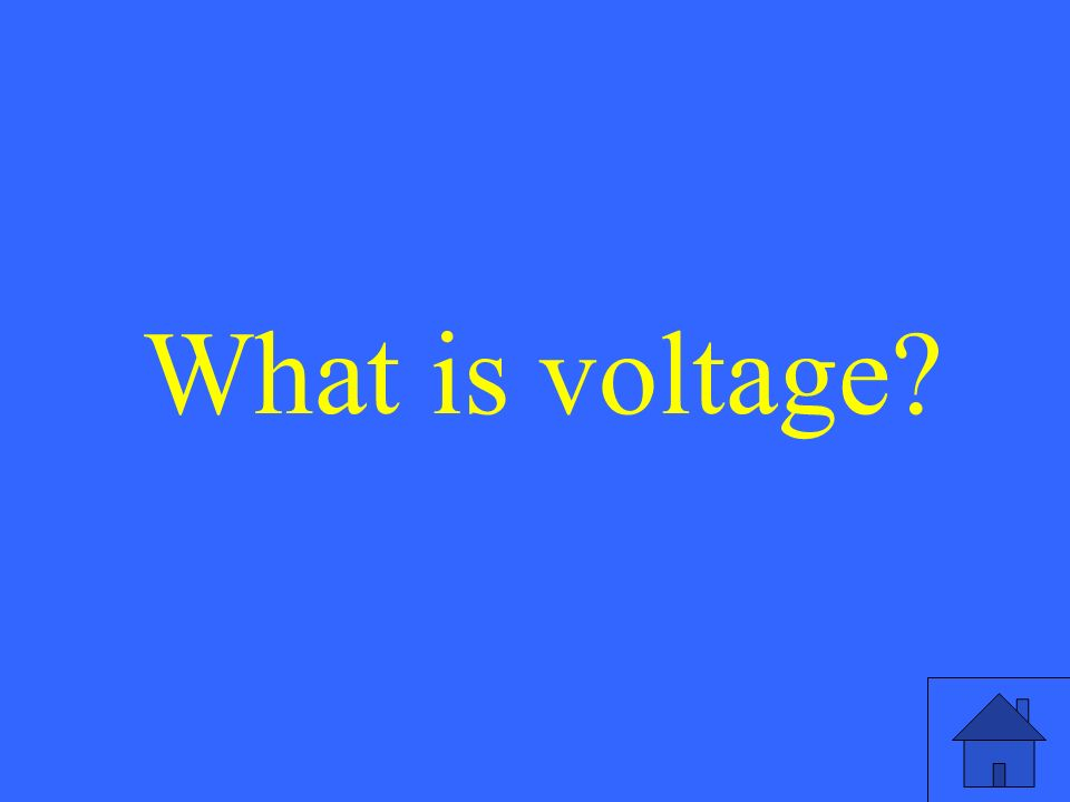 What is voltage