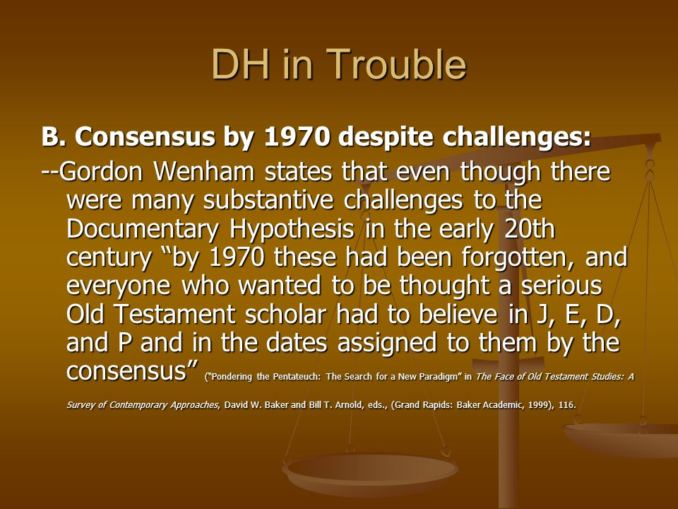 Gordon wenham documentary hypothesis what does the photosynthesis equation mean