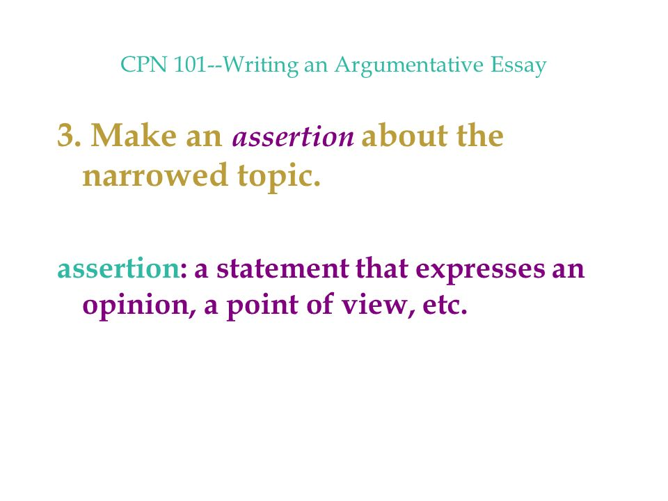 steps in making an argumentative essay