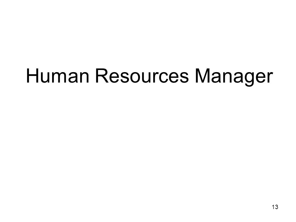 Human Resources Manager 13