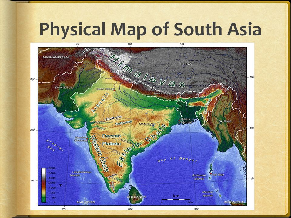 Political Map Of South Asia Physical Map Of South Asia Ppt Download - Asia physical map