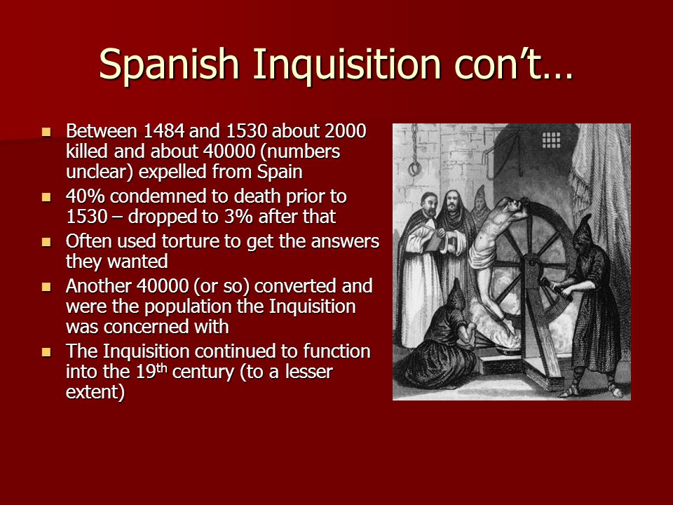 spanish inquisition essay questions The spanish inquisition was not only a the spanish inquisition: the truth behind the black investigates ancient discoveries and questions mysterious.