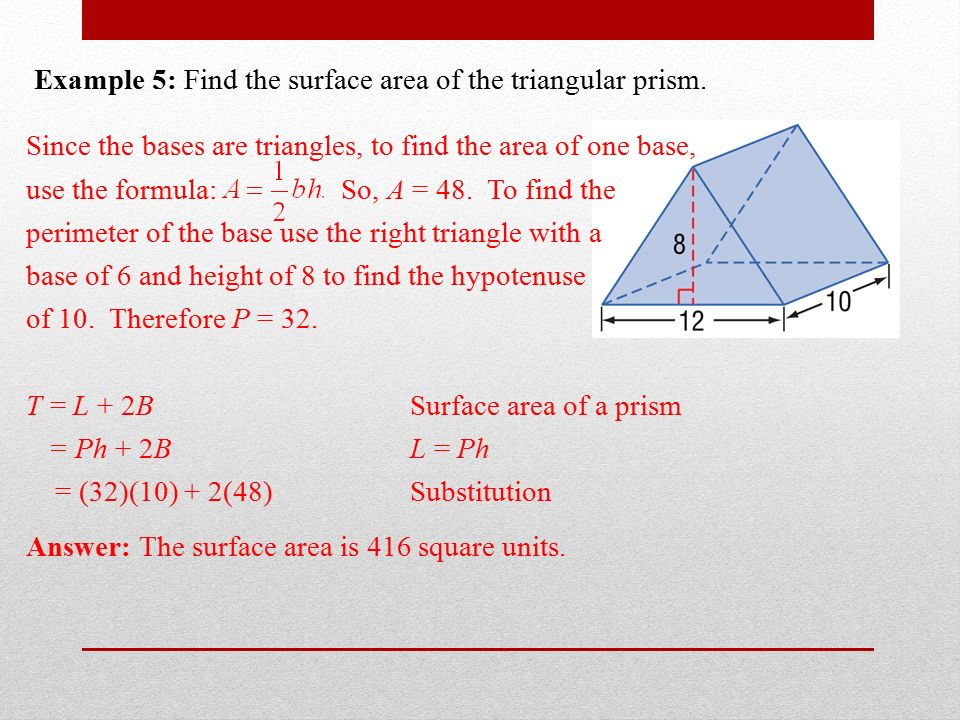 Section 122 surface areas of prisms and cylinders ppt download 9 example ccuart Choice Image