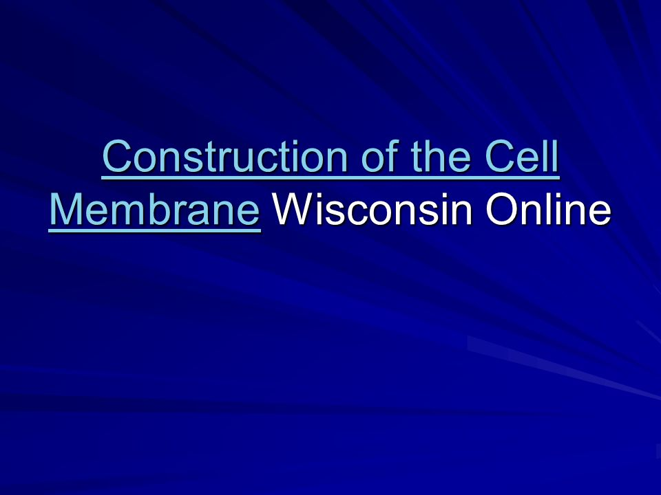 Construction of the Cell MembraneConstruction of the Cell Membrane Wisconsin Online Construction of the Cell Membrane