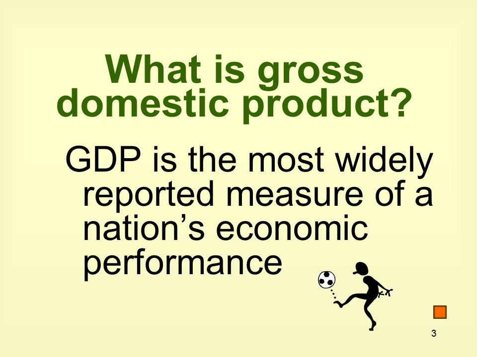 3 What is gross domestic product.
