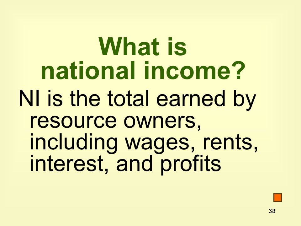 38 What is national income.