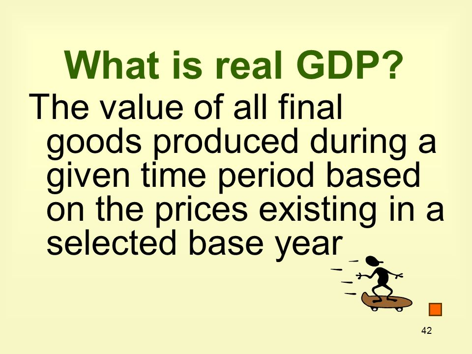 42 What is real GDP.