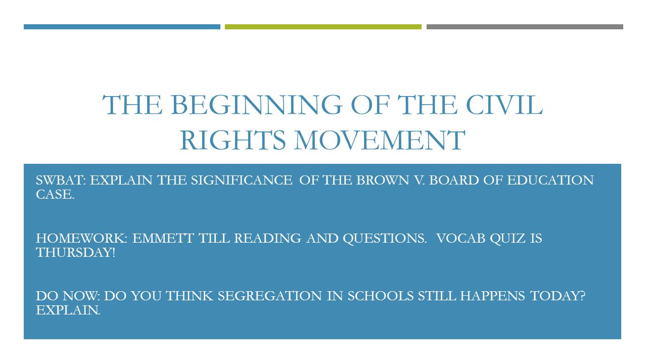 the significance of browns case in relation to the civil rights movement