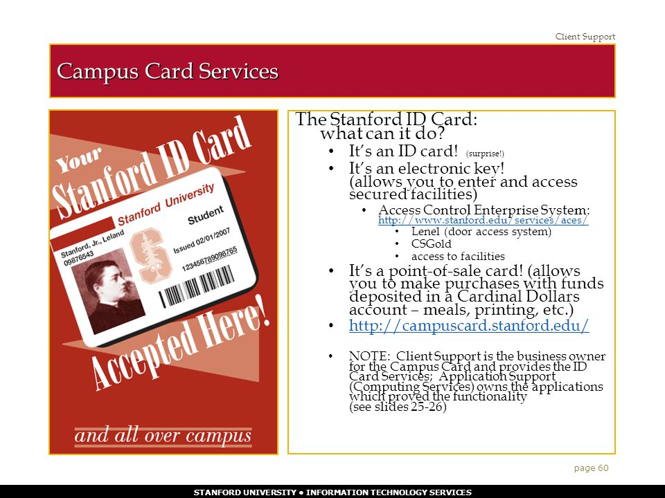 STANFORD UNIVERSITY INFORMATION TECHNOLOGY SERVICES 1 The Technical ...