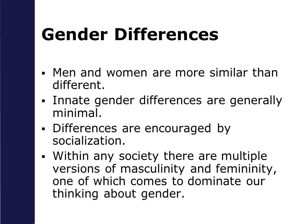 men women and sex differences essay