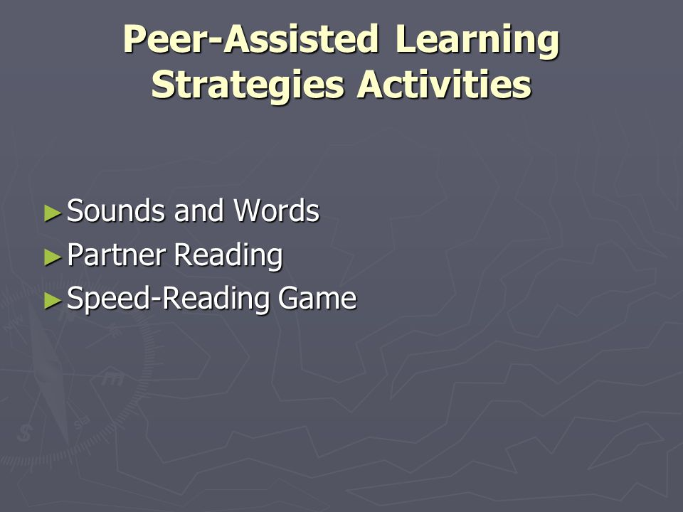 Peer-Assisted Learning Strategies Activities ► Sounds and Words ► Partner Reading ► Speed-Reading Game