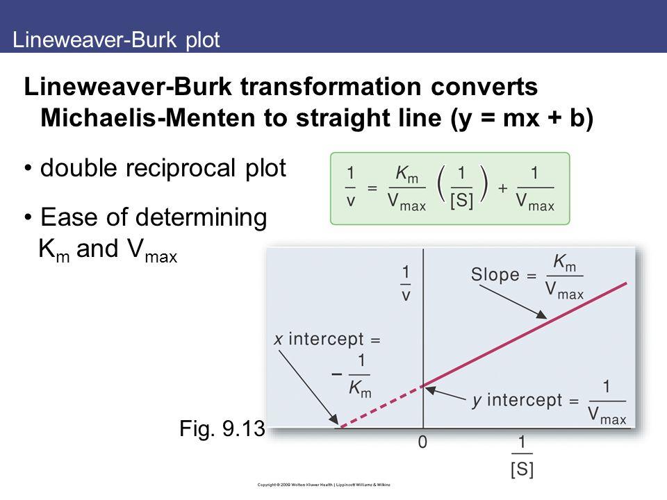 Lineweaver-Burk plot Fig.