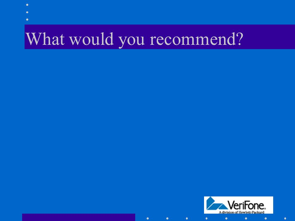 Discussion Issues Characterize VeriFone's strategy and competitive environment.