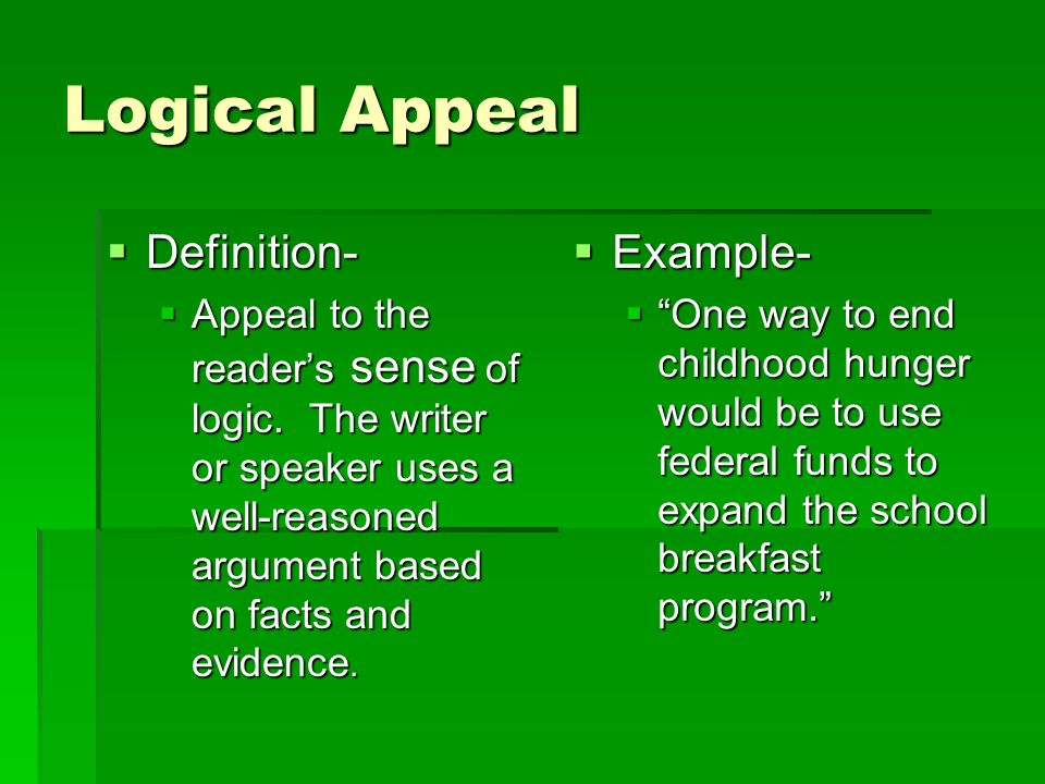 How to write an essay on logical appeal