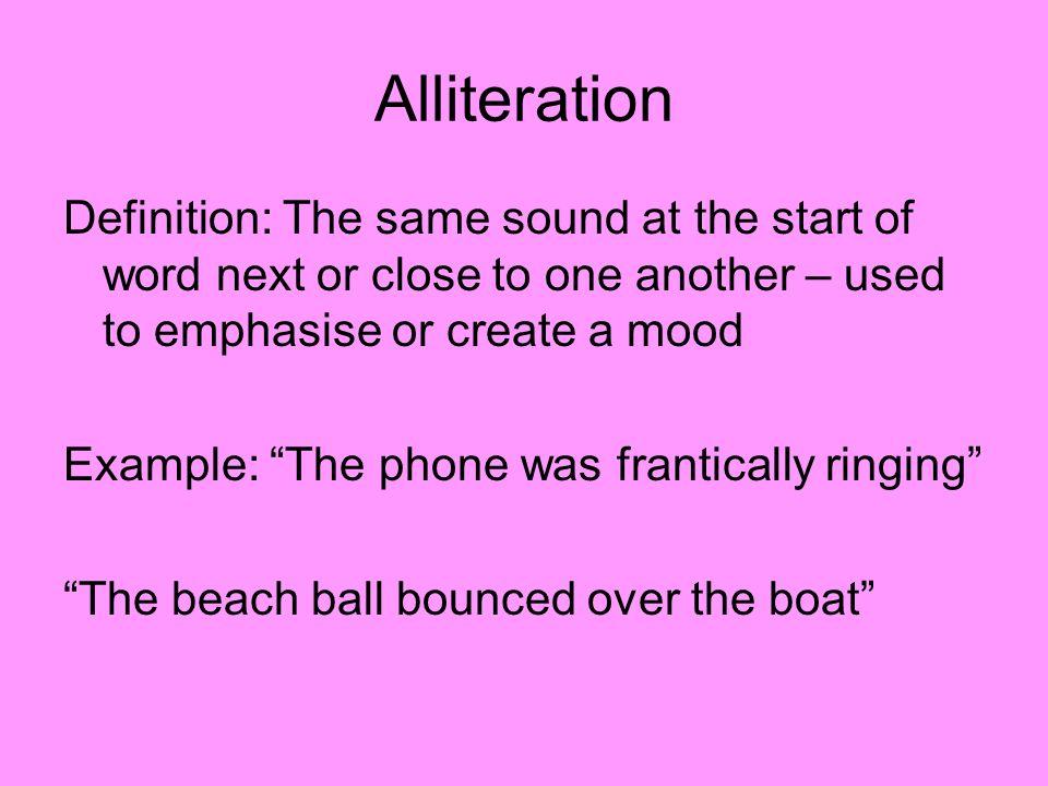 15 Alliteration ...