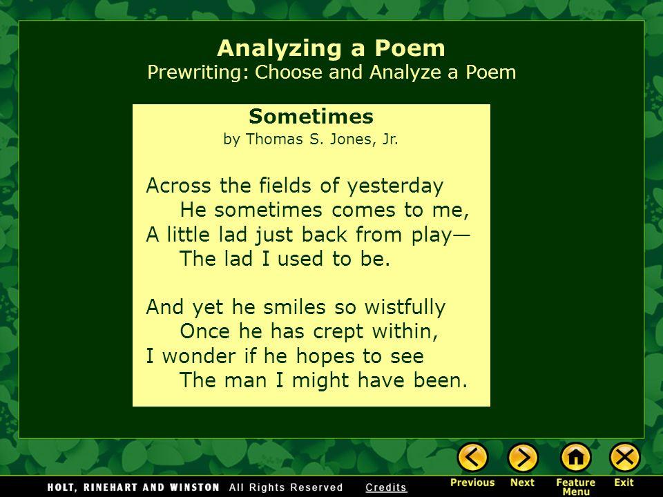 How do I write a thesis on a poem?